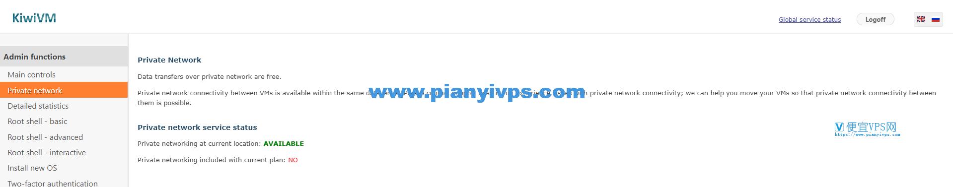 KiwiVM私有网络