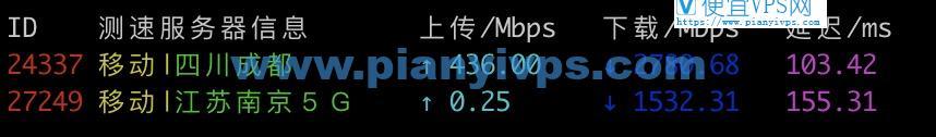 Vultr 日本移动测速