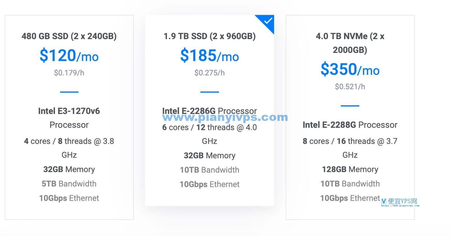 Vultr 裸金属服务器价格
